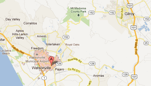 ** Map of Watsonville **